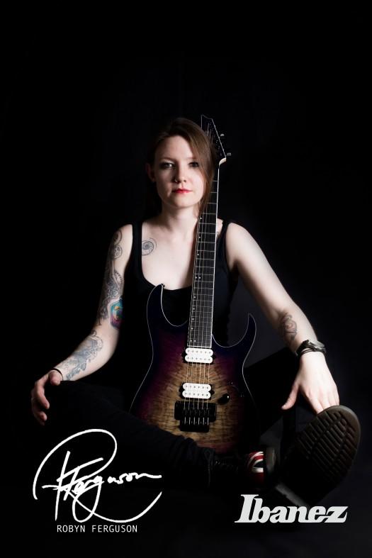 Robyn Ferguson, Guitarist, Vocalist, South Africa, Ibanez guitars, Adorned in Ash, Sistas of Metal, Musician