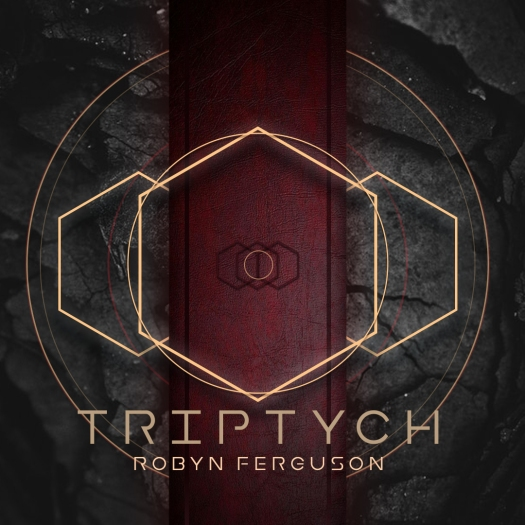 A geometric album cover for Triptych, the forth album by South African musician Robyn Ferguson.